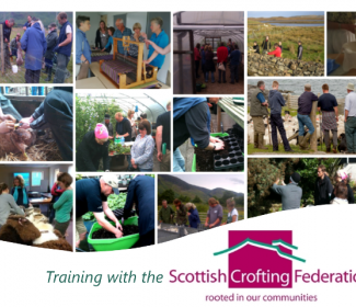 Scottish Crofting Federation montage of photos from training courses