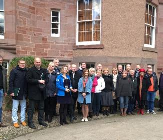 Group photo from visit from Estonian LAG