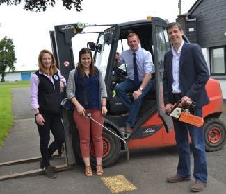 Left to Right Lynne Ferguson (Tayforth Machinery Ring), Lynne Macarthur (Highlands Machinery Ring), Stuart Jamieson (SAYFC), Michael Bayne (Borders Machinery Ring)