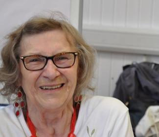 Lady smiling at camera