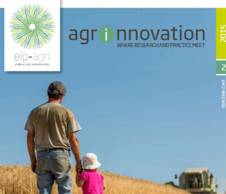 Screenshot of half of the front cover of the agrinnovation magazine