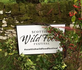 SCottish Wild Food Festival sign