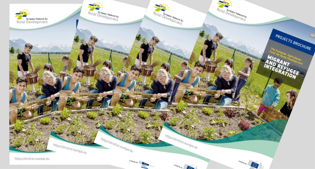 front cover of Migrants and Refugee Integration brochure