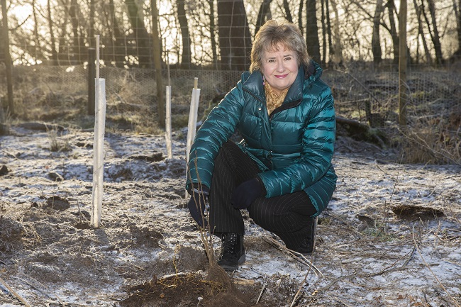 Environment Secretary Roseanna Cunningham planting trees