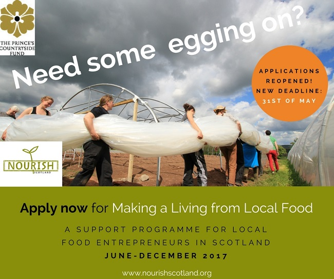 Flyer about the Making a Living from Local Food programme