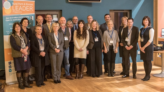 Rural Perth and Kinross Local Action Group members - group photograph