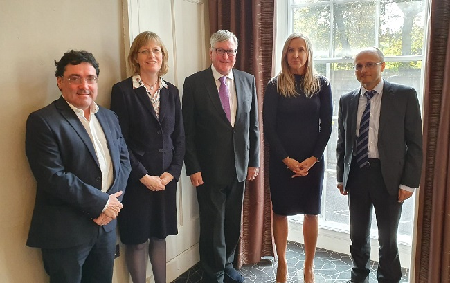 From left to right: Iain Docherty - University of Stirling, Carol Tannahill - Chair, SG  Cab Secretary for Rural Economy Fergus Ewing, Johanna Dow - Business Stream, Jeremy Phillipson - University of Newcastle