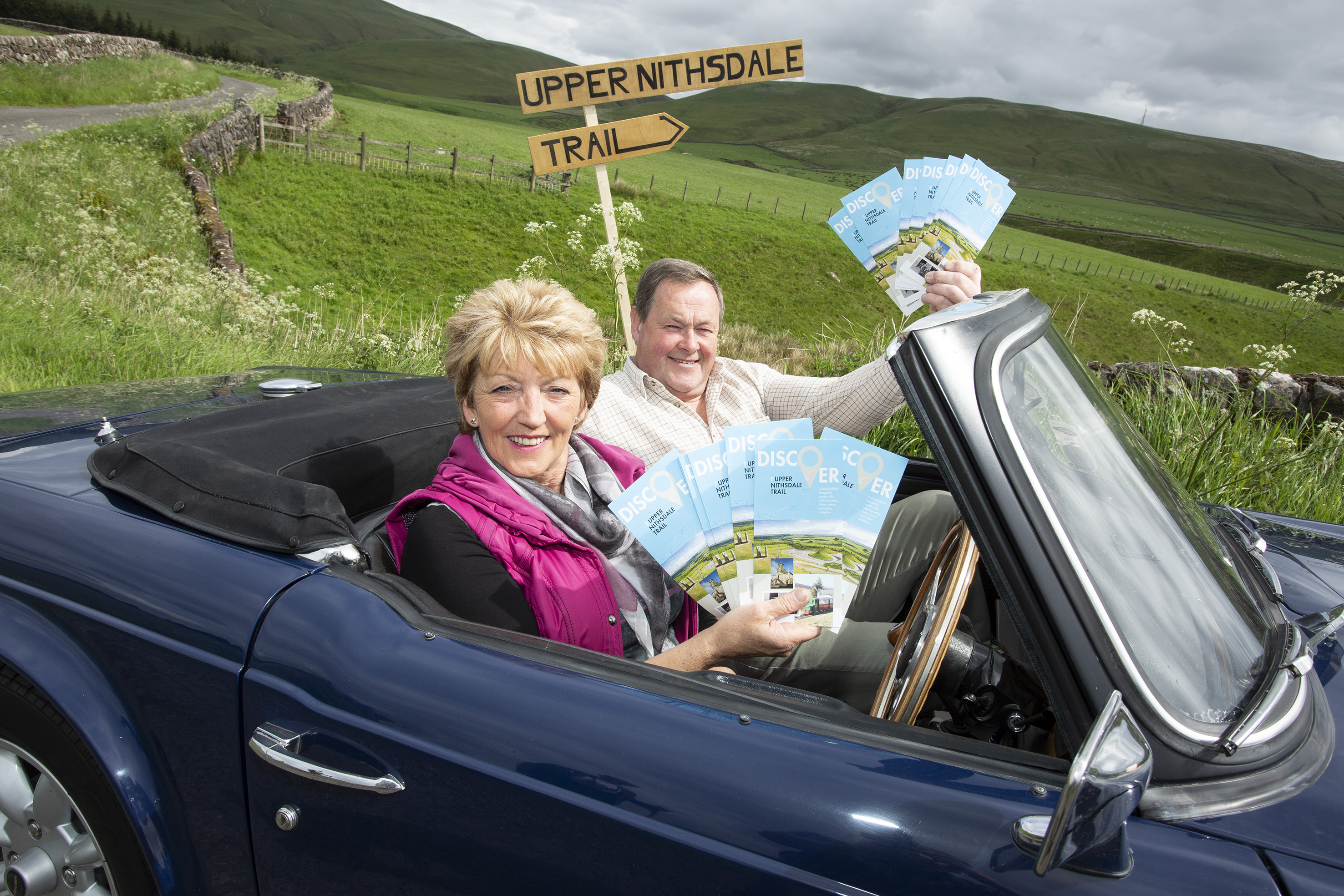 Rose Murdoch and Jon Evans of Upper Nithsdale Tourism Partnership pictured on the newly launched trail