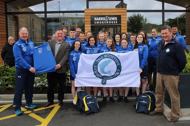 Western Isles Island Games team receiving their kits