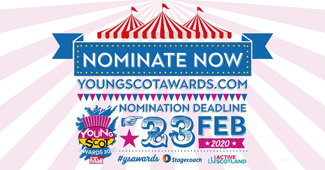Sunday Mail Young Scot Awards 2020 graphic