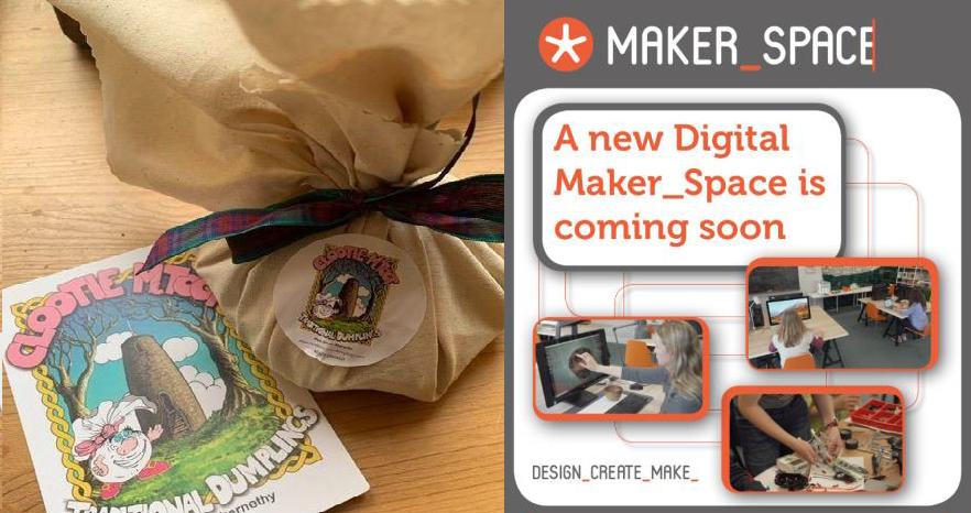 clootie mctoot dumplings and digital maker space advert