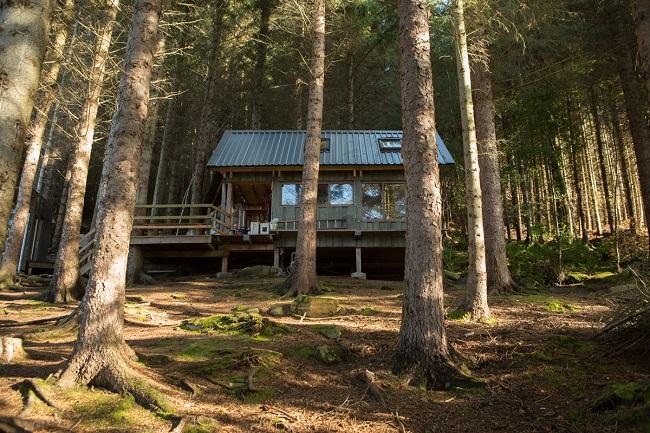 Croft house on a newly created woodland croft at Leckmelm, near Ullapool