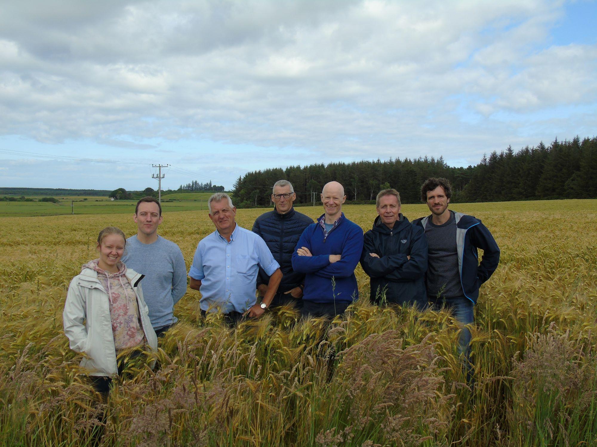 Moray and Belgian brewers at Pitgaveny farm