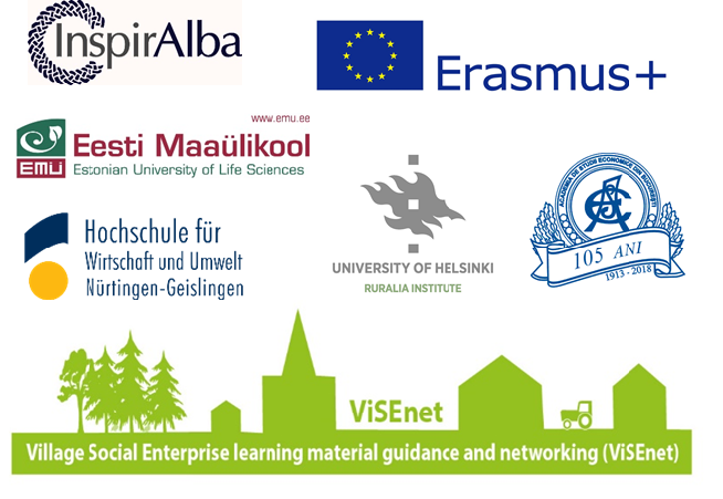 Partner logos from the Erasmus project