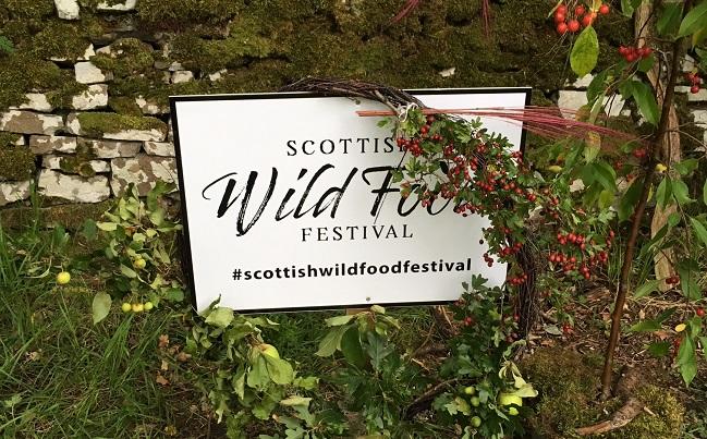 Wild Food Festival sign