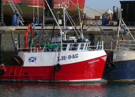 fishing boats in Buckie