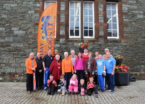 Group photo from launch of Dumfries and Galloway LEADER