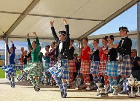 Scottish Highland dancers on stage