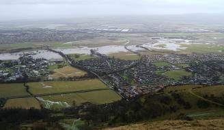 Flooding near Menstrie, Scotland