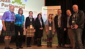 Scottish delegation group photo at European Rural Parliament 2015