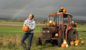 Rebecca McEwan of Arnprior pumpkins on her farm