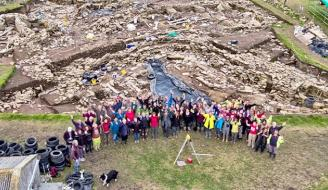 work at the Ness of Brodgar site