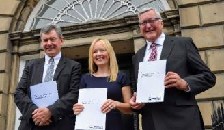 Photo: Co-Chairs of the NCRA, Lorne Crerar, Alison Milne & Fergus Ewing MSP