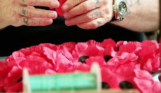 Lady Haig's Poppy Factory: making poppies and wreaths