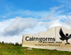 Cairngorms National Park sign