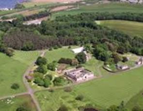 aerial view of Dunglass Estate