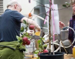 Fresh apple juice being poured at Scottish Smallholding Festival 2016