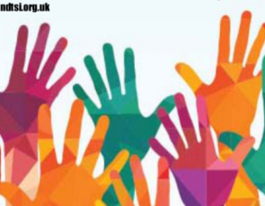 graphic showing multi-coloured hands