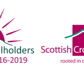 Crofters and smallholders skills boost logo and Scottish Crofting Federation logo