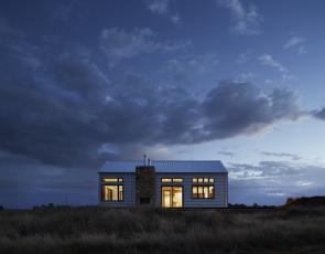 A modern home in a rural setting