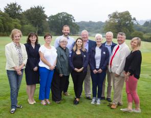 The Dumfries & Galloway LEADER Rural Awards Steering Group welcomed Dr Jessica Sellick, Artur Steiner, Iain Maddox, Jim Hume and Alice Mayne to the region to judge the 2019 Awards. Representing the Dumfries & Galloway LEADER Rural Awards Steering Group were; Cathy Agnew, Sharon Glendinning, Jenny Wilson, Ellen Grant, Nicola Hill and Peter Ross.  Picture at The Cally Palace Hotel & Golf Course near Gatehouse of Fleet. (Photo Credit: Mike Bolam)