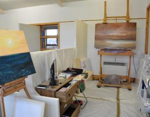 Artist studio on Bressay, art by Gunner Olafsson