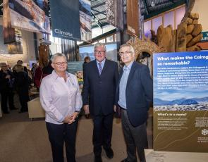 From left to right - Susan Smith, Interim Chief Executive of Cairngorm Mountain (Scotland) Ltd (CMSL), Fergus Ewing, Scottish Government's Cabinet Secretary for Rural Economy and CMSL Chairman, Peter Mearns