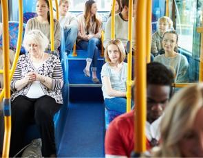 People sitting on bus
