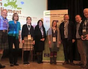 Scottish delegation at European Rural Parliament