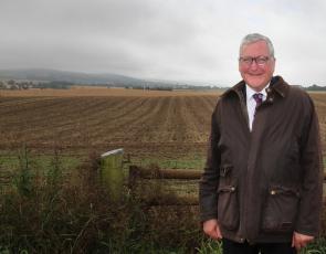 Fergus Ewing in field