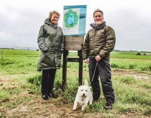 Environment Secretary Roseanna Cunningham on IPA funded path near Loch Leven