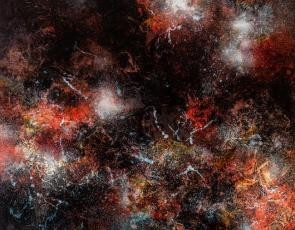 Ione Parkin RWA Dark Phenomena oil on canvas
