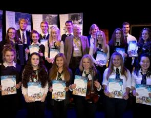 Young Rural Parliament volunteers recieve their Saltire awards