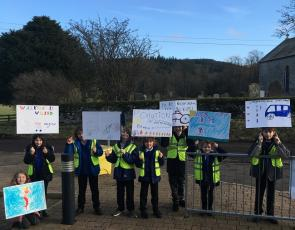 Lamington Primary Schools Active Travel placards