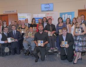 group photo of Scottish Charity Award winners 2017