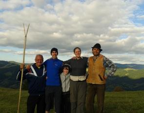 Churchill fellow Rachel Remnant with group of farmers