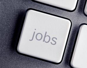 'jobs' written on keyboard key