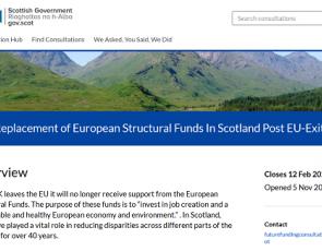 screenshot of Scottish Government consultation website