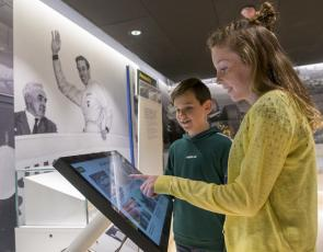 Children look at exhibit at Jim Clark Motorsport Museum Credit Phil Wilkinson/Live Borders