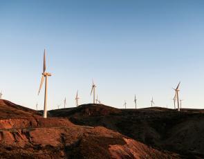 Hill wind farm